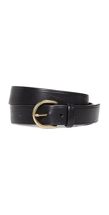 Madewell Medium Perfect Leather Belt - True Black