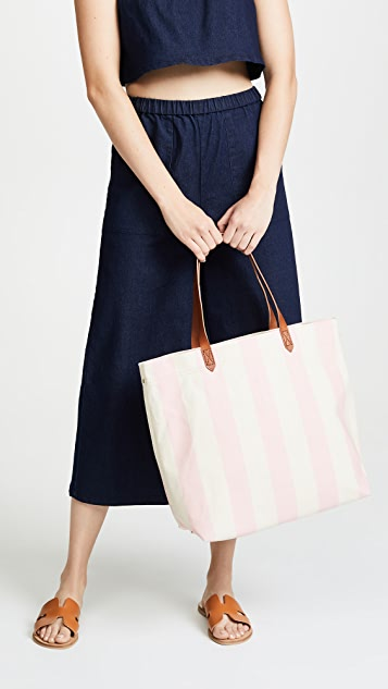 Madewell Striped Canvas Transport Tote