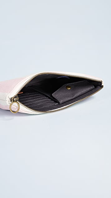 Madewell Canvas Stripes Flat Pouch