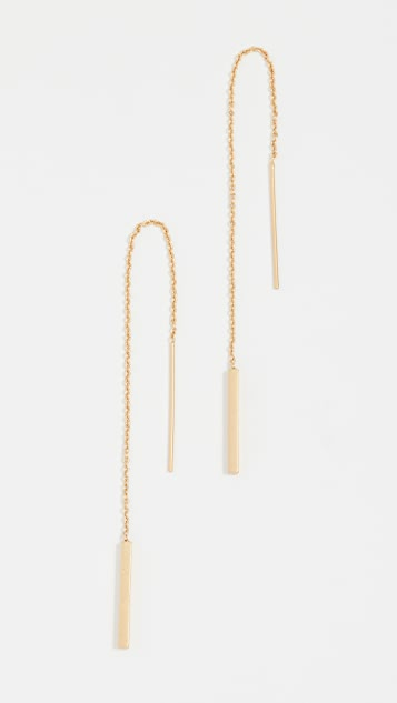 Madewell Delicate Threader Earrings - Vintage Gold