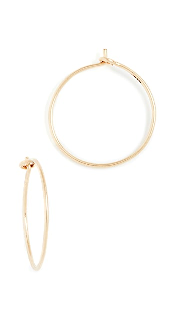 Madewell 14k Gold Filled Hoop Earrings