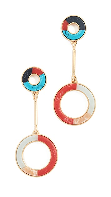 Madewell Inlay Circle Earrings