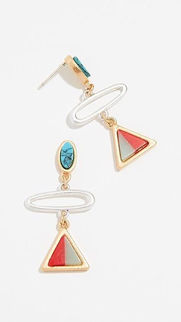 Madewell Triangle Link Earrings