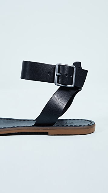 Madewell The Boardwalk Ankle-Strap Sandals