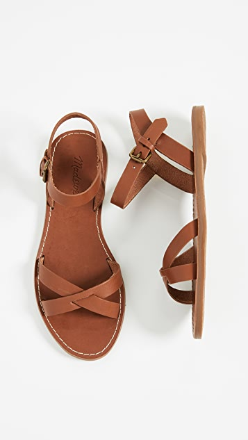 Madewell The Boardwalk Crisscross Sandals
