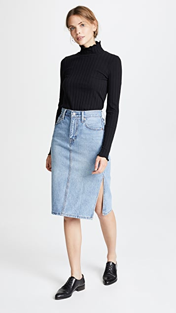 Madewell Joy Lettuce Turtleneck