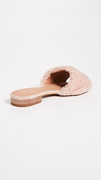 Madewell The Jackson Shearling Slide Sandals