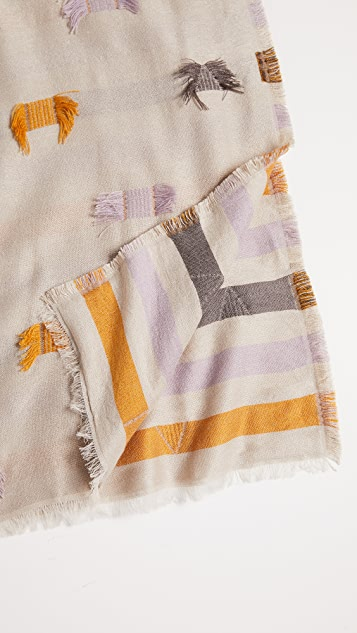 Madewell Stripe and Fringe Scarf