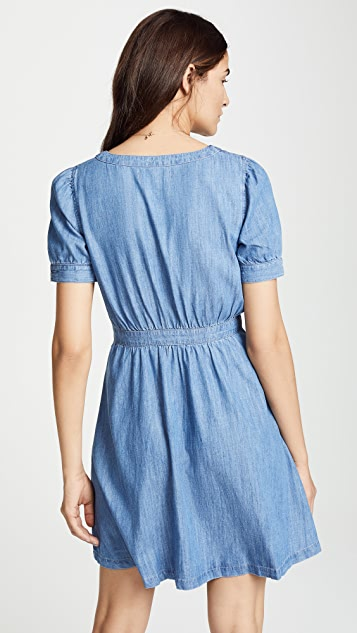 Madewell Denim Retro Waisted Dress
