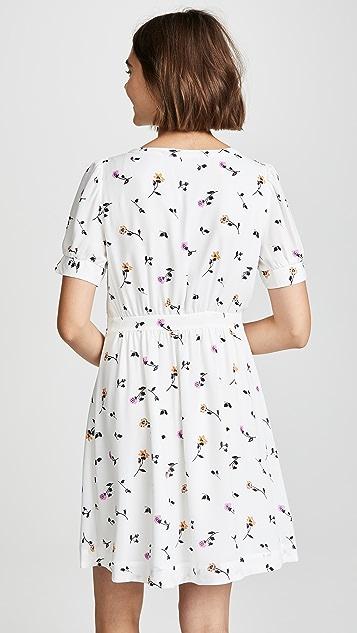 Madewell Белое приталенное платье в стиле ретро