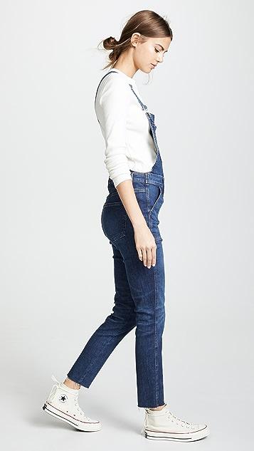 Madewell Indigo Skinny Overalls