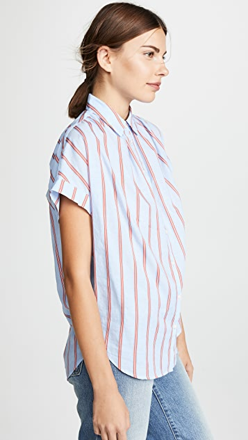 Madewell Joey Stripe Central Shirt