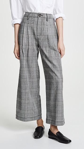 Madewell Checkered Wide Leg Pants