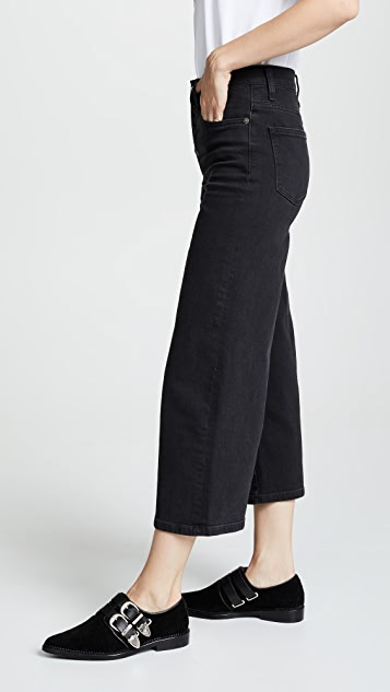 Madewell Wide Leg Crop Jeans