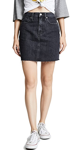 Madewell Vintage Black Denim Skirt