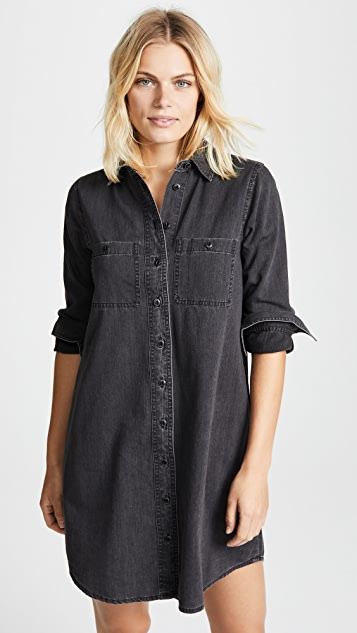 97606a254e Madewell Black Denim Shirtdress