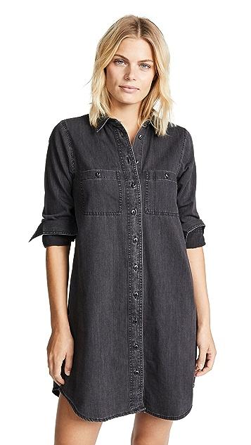 Madewell 黑色牛仔布衬衣连衣裙