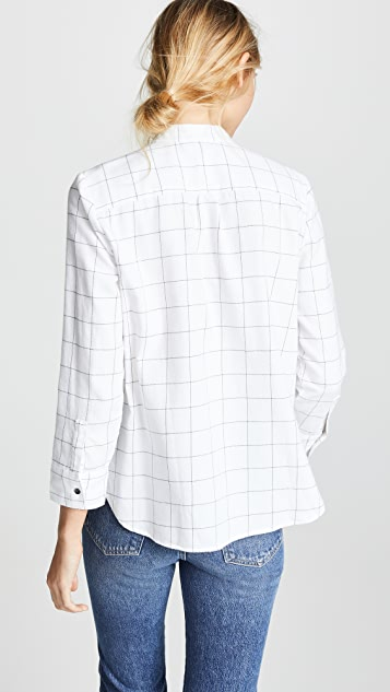 Madewell Long Sleeve Tie Neck Button Down