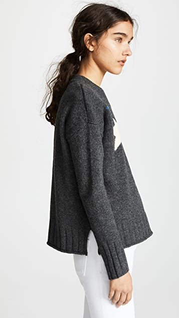 Madewell Multi-Color Star Pullover Sweater