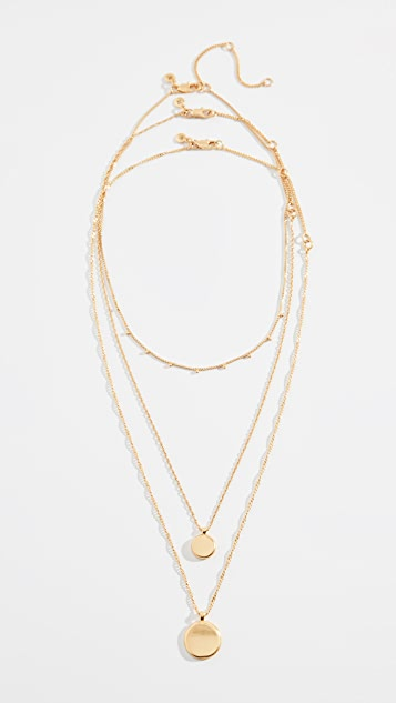 Madewell Coin Necklace Set
