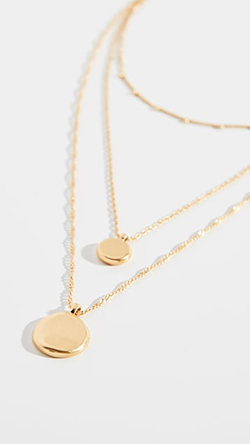 Madewell Coin Layer Pendant Necklace