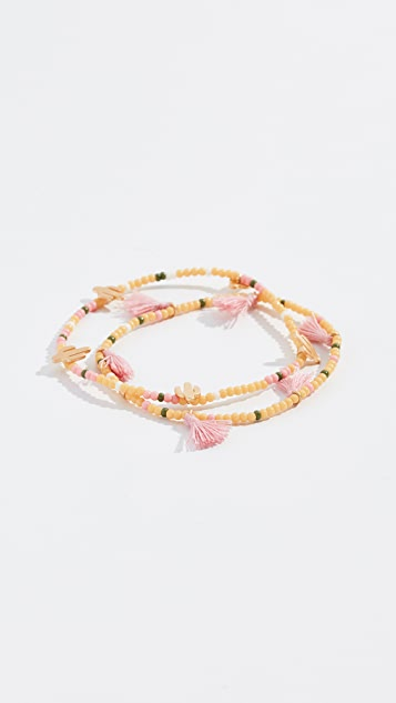 Madewell Mixed Bead Stretch Bracelets