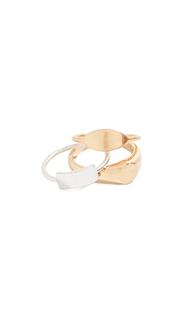 Madewell Signet Ring Stack