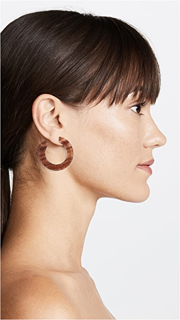 Madewell Striped Resin Hoop Earrings