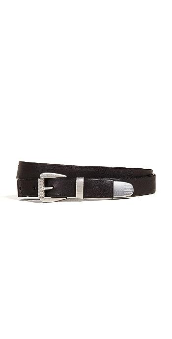 Madewell 3 Piece Clean Western Belt - True Black