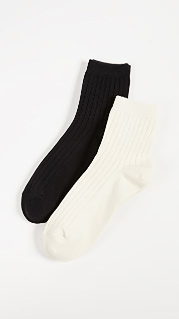 Madewell Two-Pack Ankle Socks