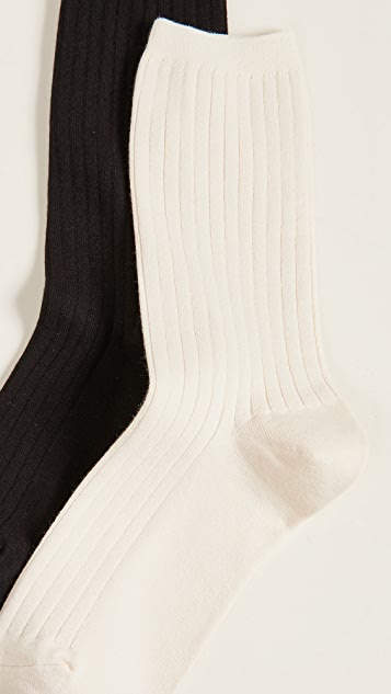 Madewell Набор из двух пар рубчатых носков под брюки