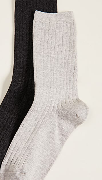 Madewell Ribbed Trouser Socks 2 Pack
