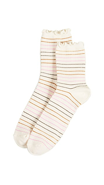 Madewell Simple Stripe Lettuce Socks