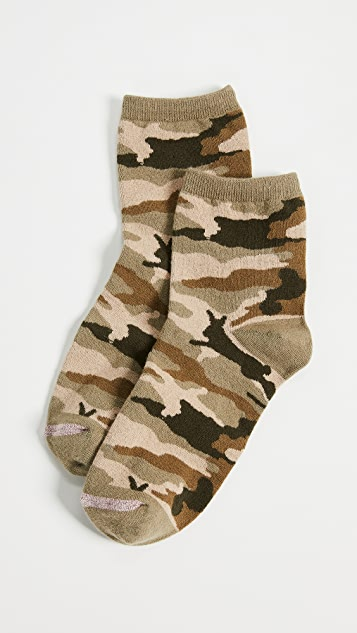 Madewell Camo Bunny Ankle Mid Socks