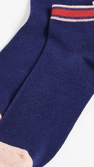 Madewell Athletic Stripe Anklet Socks