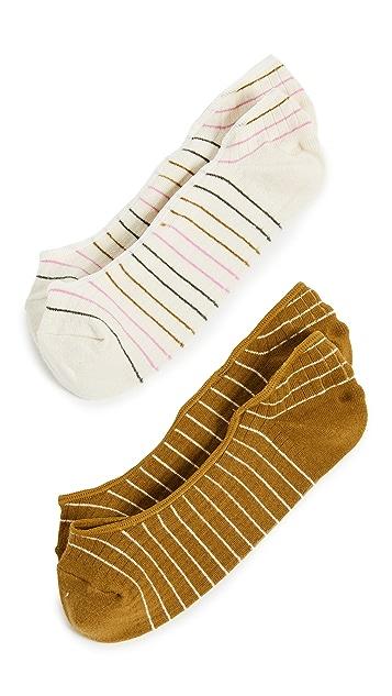 Madewell Rainbow Stripes No Show Socks
