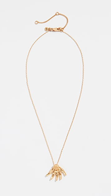 Madewell Delicate Petal Drop Necklace