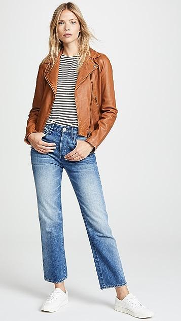 Madewell Washed Leather Moto Jacket