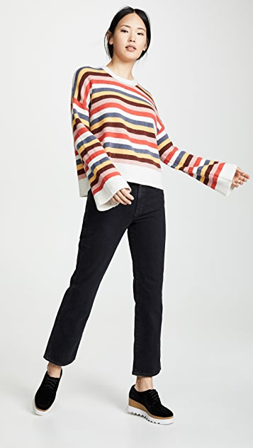 Madewell Striped Cardiff Sweater