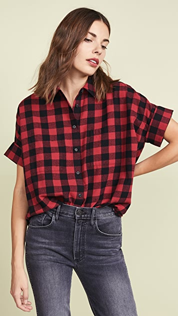 Madewell Flannel Courier Button Down Shirt