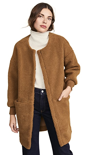 Madewell Bonded Sherpa Cocoon Coat