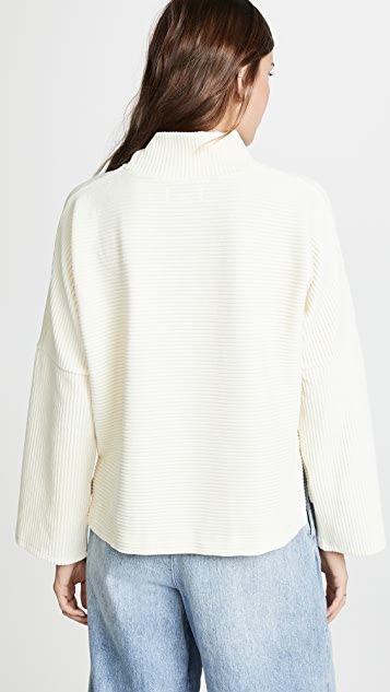 Madewell Texture & Thread Velour Mock Neck Top