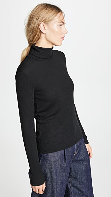 Madewell Fine Ribbed Turtleneck Top