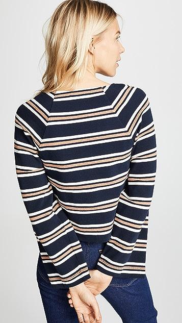 Madewell Carob Metallic Pullover