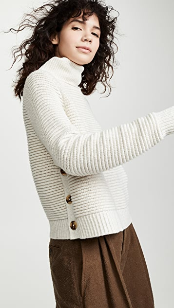 857a87c45f5 Madewell Side Button Turtleneck Sweater ...
