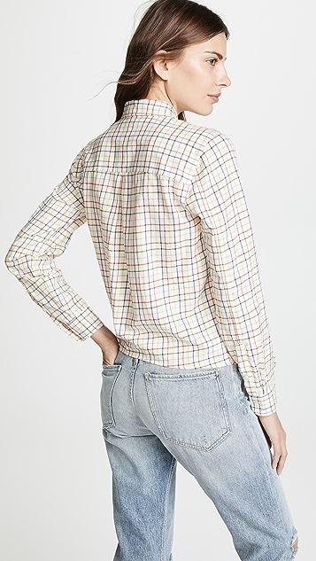 Madewell Рубашка Rainbow в клетку с завязками спереди