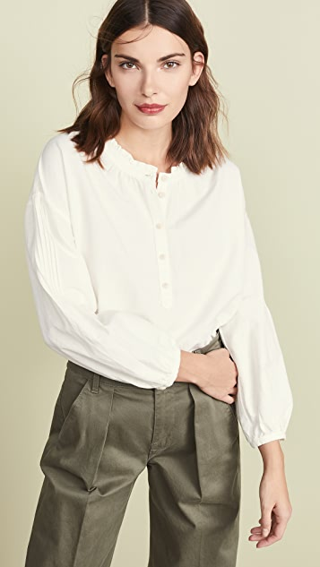 Pintuck Sleeve Button Down Top by Madewell