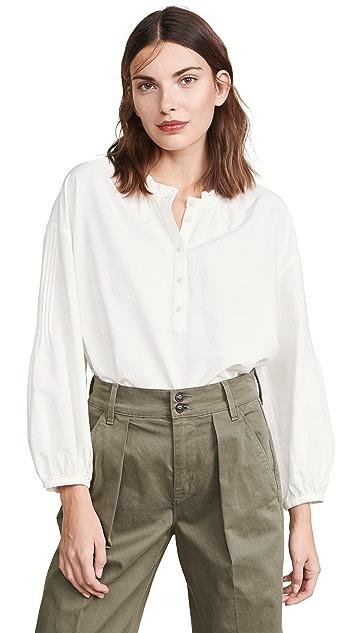Madewell 细褶袖系扣上衣