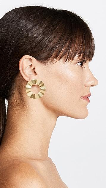 Madewell 波纹环圈针式耳环