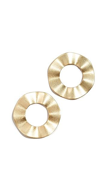 Madewell Rippled Ring Post Earrings